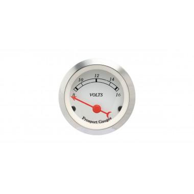 Manomètre voltmètre Prosport Classic référence CT-VO-003-BL