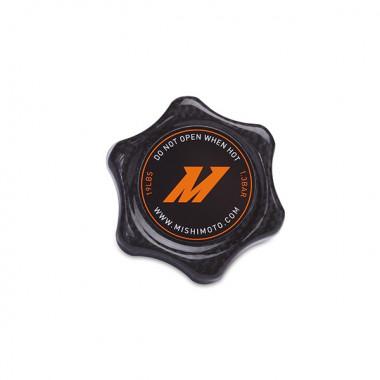 Bouchon de radiateur Mishimoto en fibre de carbone - 1.3 bars - taille small.