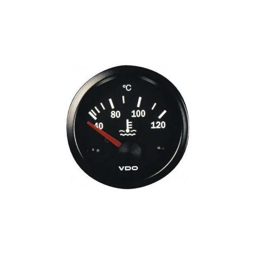 Manomètre VDO de température d'eau 40 à 120°C