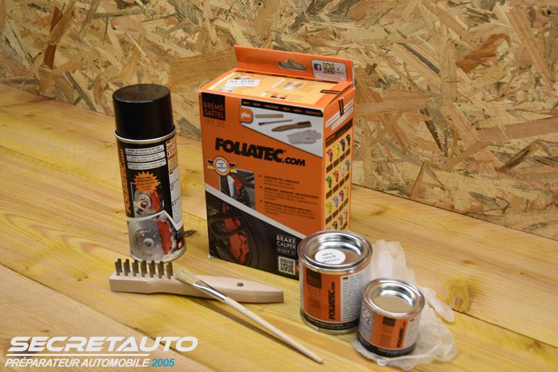 Peinture Foliatec pour étrier de frein