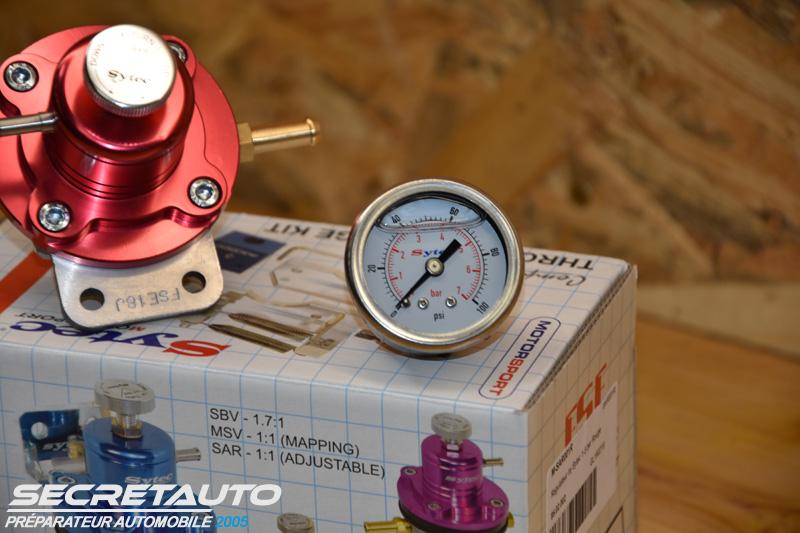 Régulateur Sytec avec manomètre haute pression glycériné