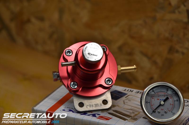 Régulateur réglable de 1 à 5 bars Sytec rouge