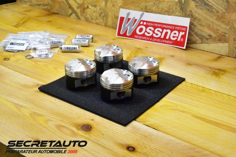 Kit 4 pistons forgés Wossner peugeot 106 1.4