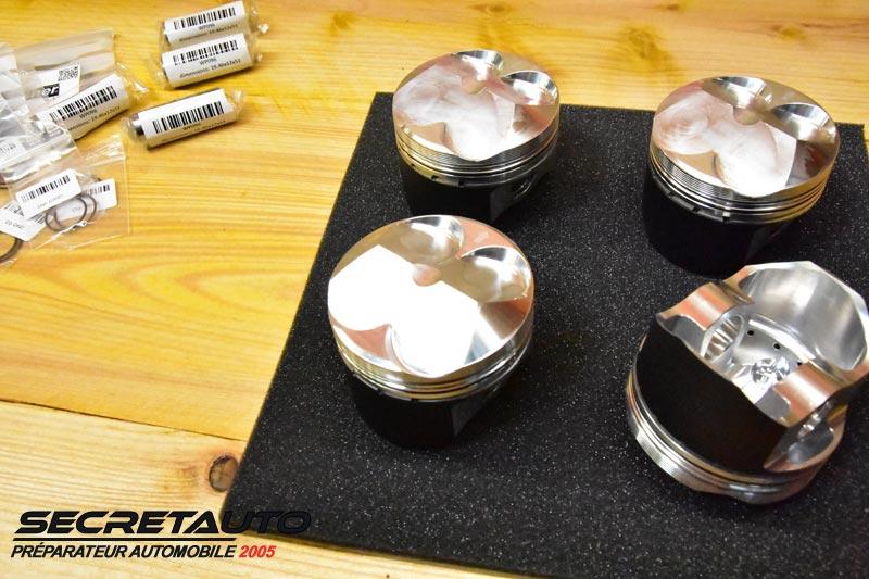 Pistons forgés avec retour racleur d'huile peugeot 106 tu3j4sp