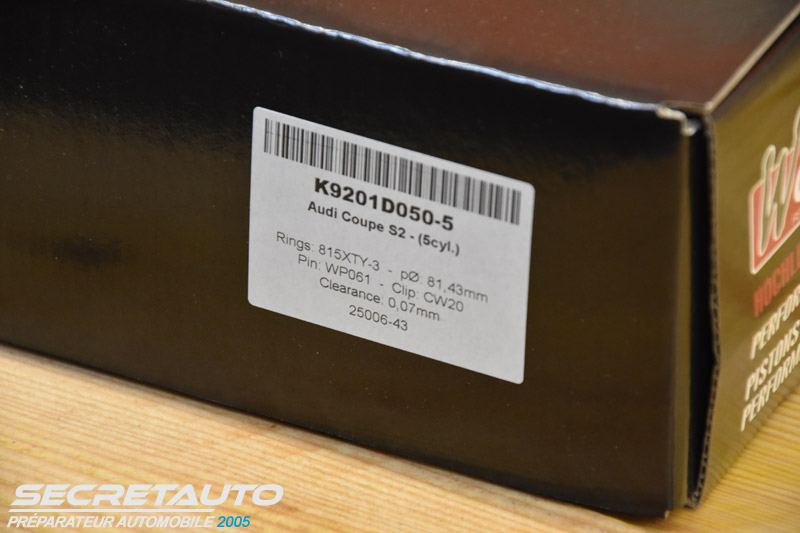Pistons wossner K9201D050-5 Audi coupé S2