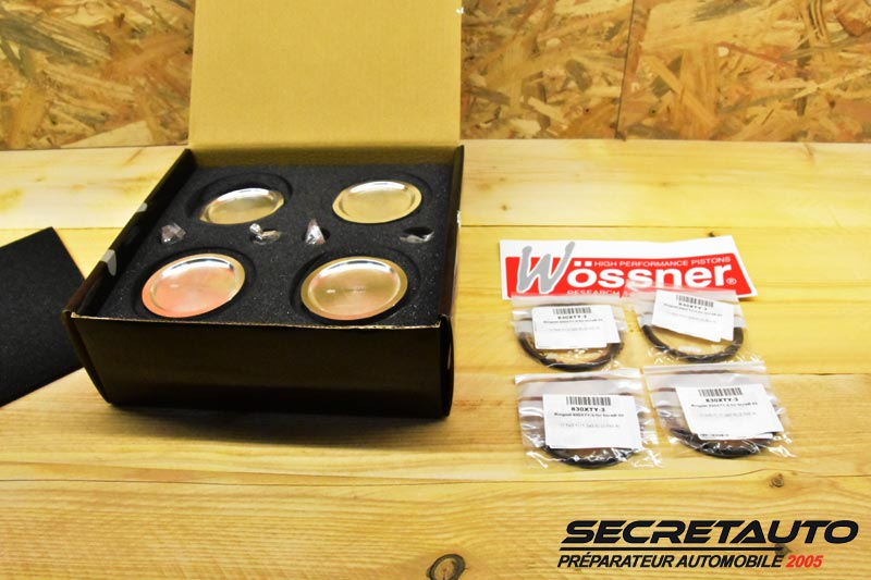 Kit complet pistons forgés Wossner Golf 2 G60 pour préparation moteur
