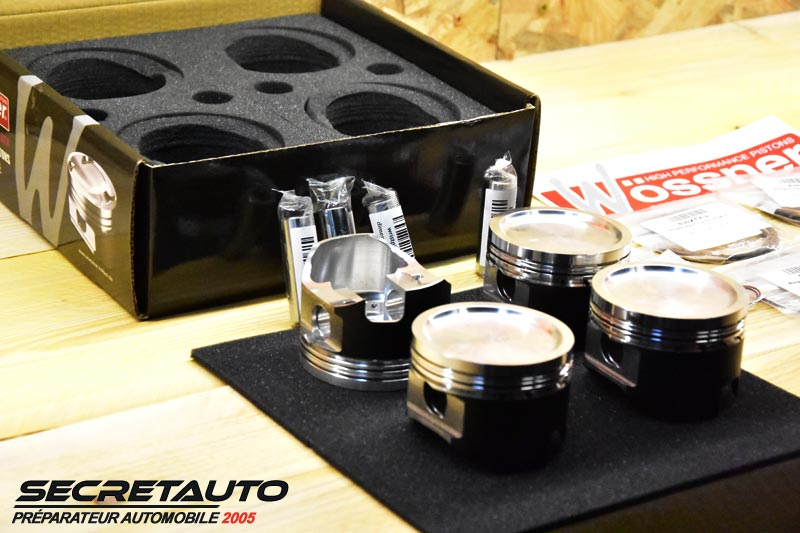 Kit pistons forgés Wossner Golf 2 G60 pour convertion turbo