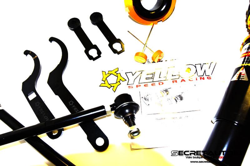 Biellettes courtes de barre anti-roulis Yellow Speed Racing inclus avec le combiné fileté pour Audi S3 8L Quattro