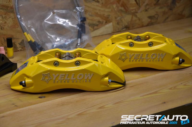 Étriers jaune kit gros frein