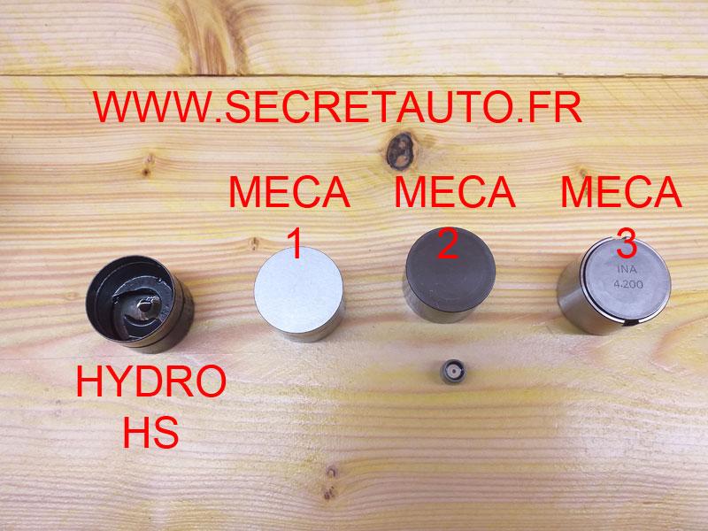 poussoirs hydrauliques et mécaniques