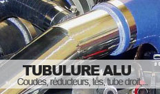 Coude et tube alu pour durite silicone