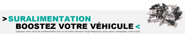 Dump valves, wastegates, turbo hybrid, ... toute une gamme de pièces pour boostez votre circuit de suralimentation !