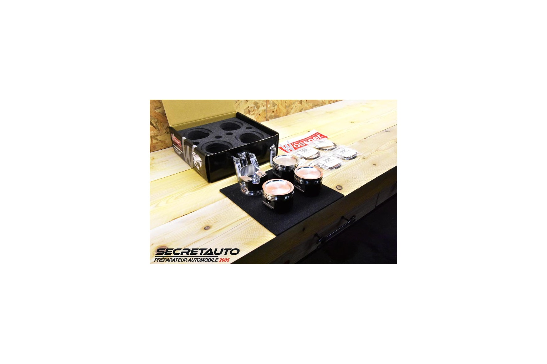 Unboxing kit pistons forgés Wossner pour Vw Golf 2 G60 convertion 2L Turbo