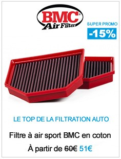 Promotions filtre à air bmc