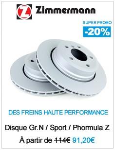 Promotion disque de frein zimmermann
